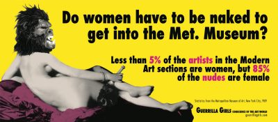 "Guerrilla Girls' ""Do women have to be naked to get into the Met. Museum?,"" 2012"
